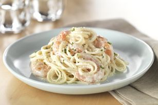 Cracked Black Pepper-Shrimp Alfredo