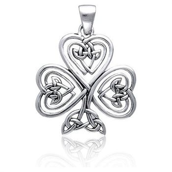 celtic knot, tree of life, shamrock pendant