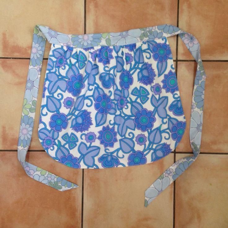 Vintage fabric hostess apron