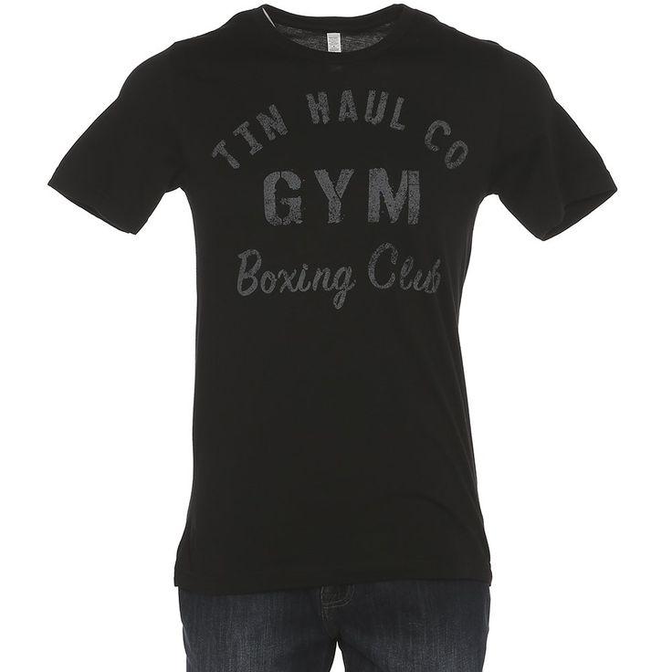 Men's Tin Haul Black Gym Boxing Club Tee