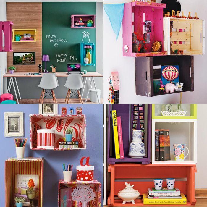 Inspiração: caixotes de madeira na decoração