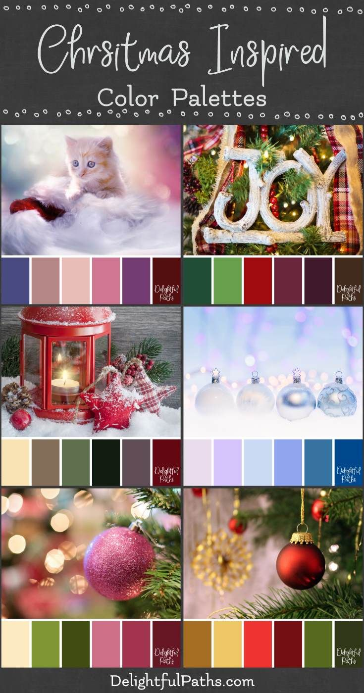 Christmas Color Palettes   Delightful Paths in 2020 | Christmas