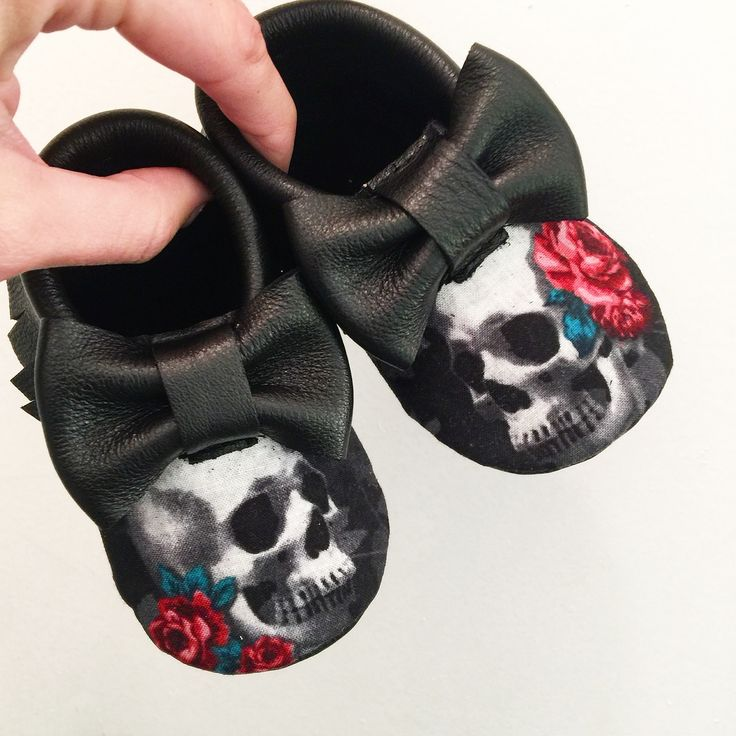 Rose Skull moccs Floral bow moccs baby toddler moccasins clothes shoes baby shower ideas baby food maternity baby girl announcement milestones breastfeeding 1st birthday first birthday