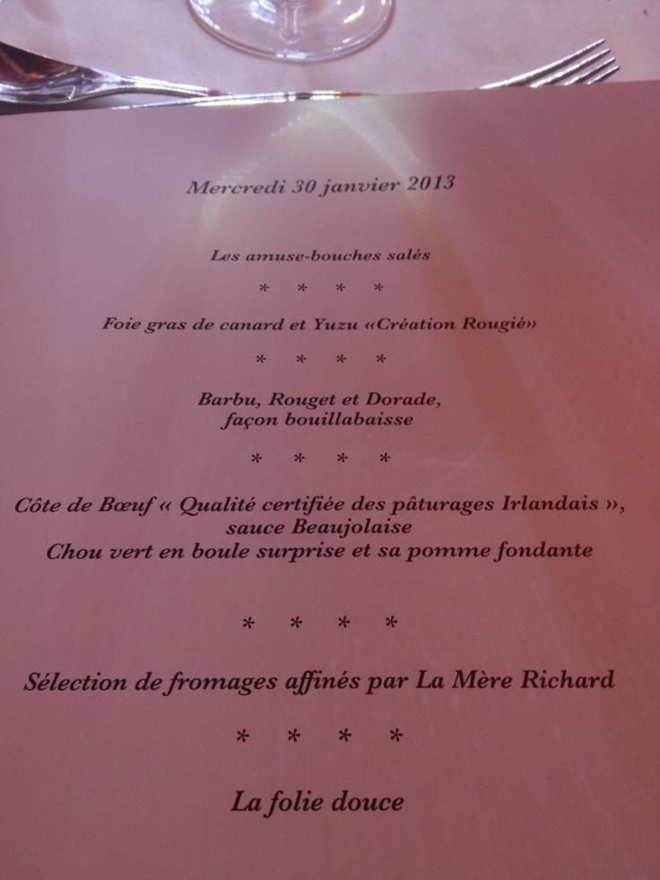 Menu de gala Bocuse d'Or