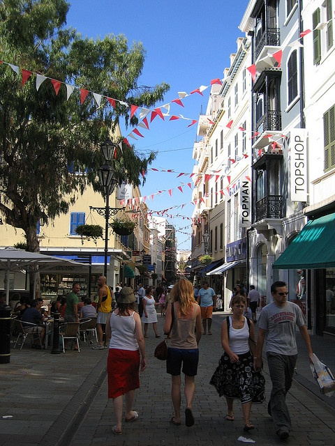 Gibraltar    Shopping street, replete with local TopShop and TopMan