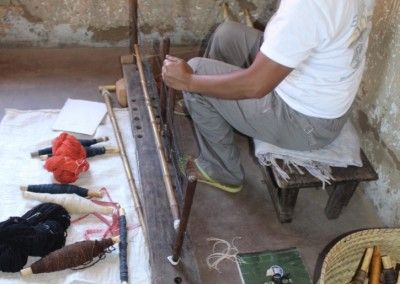 traitement des fils de soie sauvage bio