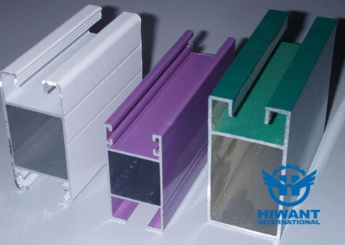 Aluminium profile for abnormal shape industrial aluminium alloy product, colorful surface, powder coating process.
