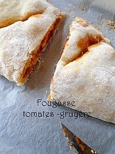 Fougasse tomates / gruyère