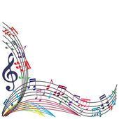 Notas de música de fondo, tema musical elegante composición, vecto — Vector de stock