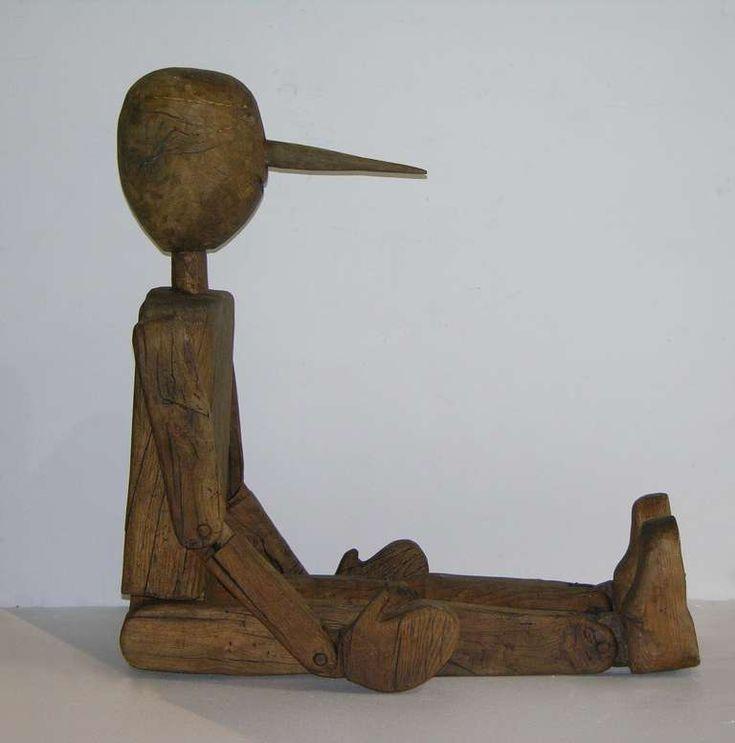 Italian articulated wooden pinocchio sculpture pinocchio for Art moderne sculpture