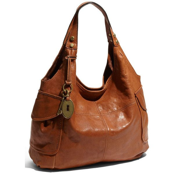 Fossil 'Modern Cargo' Leather Shopper ($94) found on Polyvore