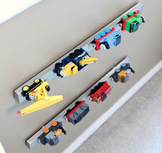 5 Most Underrated Kids Products At IKEAGrundtal knife rack. Knife rack? In the kids room? Yep! The Grundtal magnetic strip is amazing for storing toy cars, trucks and trains. Keep it down low for easy access by little hands. $14.99.
