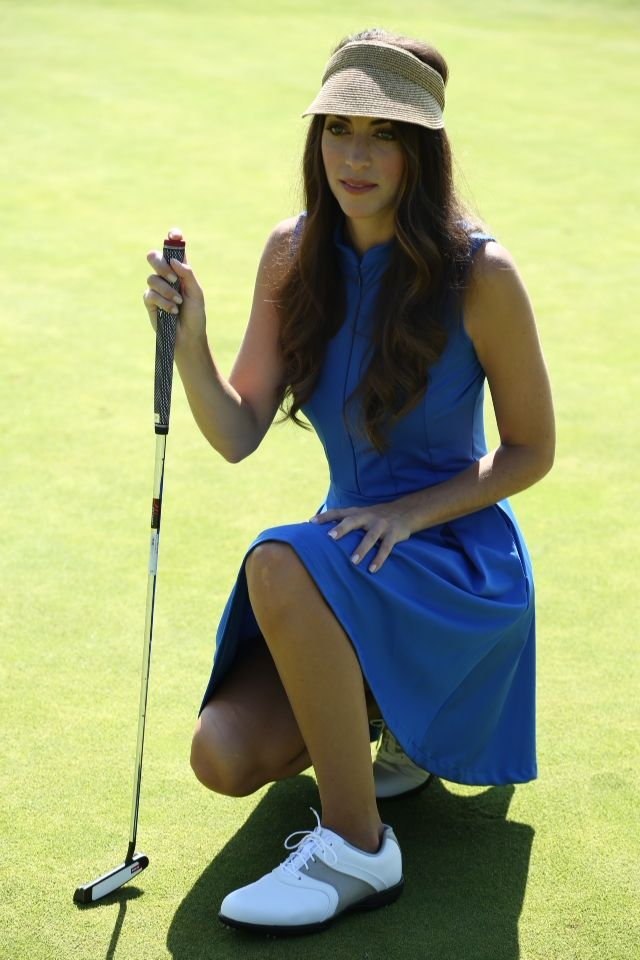 The princess dress with shorts built in and pockets on the sides #golf #dress #blue #fashion #golf