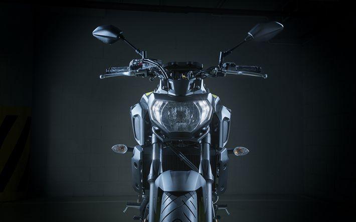 Download wallpapers Yamaha MT-07, superbikes, 2018 bikes, studio, Yamaha
