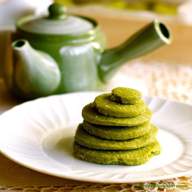 Matcha Green Tea Shortbread Cookies | All Food Matcha(Green Tea) | Pi ...
