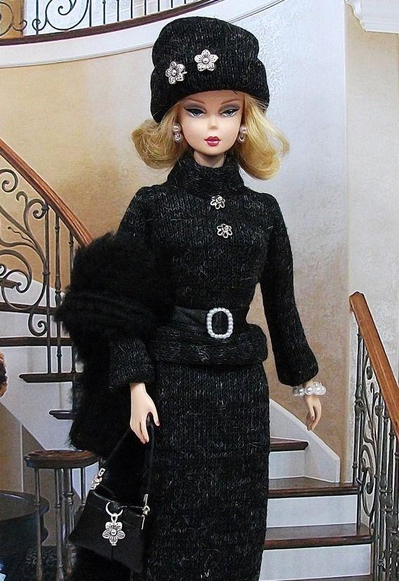 """Robe """"  Yvonne """" tenue pour poupée f3788"""