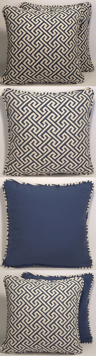 Pillows 20563: Handmade Decorative Throw Pillows 2 18 Anvers Vern Yip Navy Geometric Fabric -> BUY IT NOW ONLY: $85 on eBay!