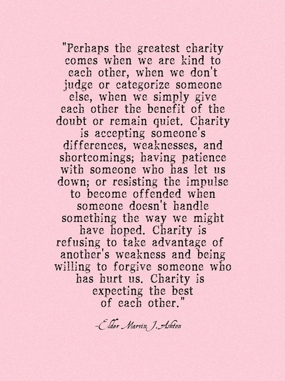 Love this...need to remind myself of this more often. Less judgement, more love!
