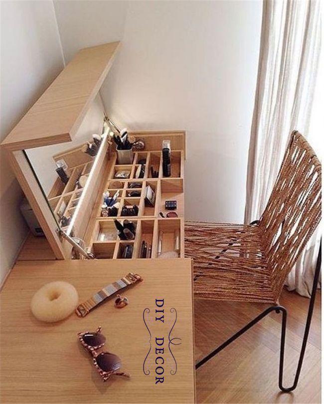 37 Magnificent Makeup Stations Design Inspirations Meuble Maison Amenagement Maison Fabrication Meuble