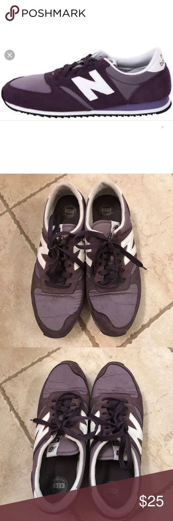 New Balance Vintage Purple 420 Trainers for Women Cute and comfy sneakers in vintage purple color. I'm a Women's 9, they fit me perfectly. Tag is in Men's size. This is a Women's 9. Bought these at a NYC boutique store. In good used condition. New Balance Shoes Sneakers
