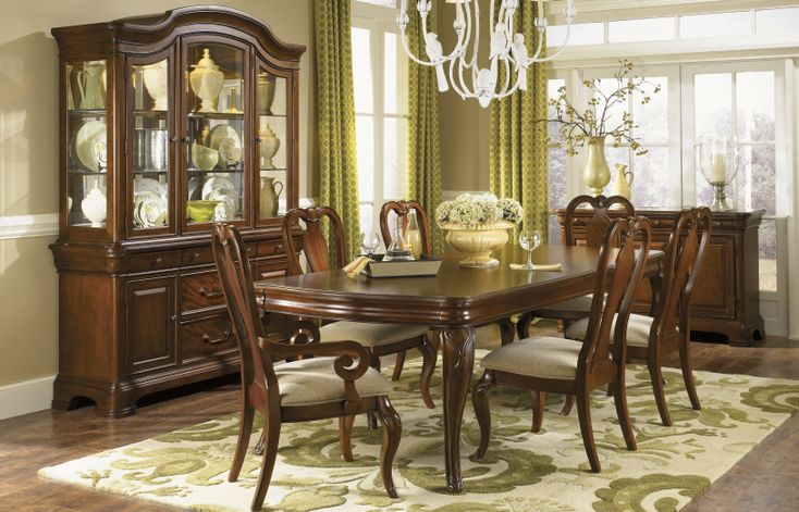 Legacy Furniture Evolution Dining Room Collection Constructed With American Hardwood Solids And Quartered Mahogany Veneers In A Rich Auburn Finish