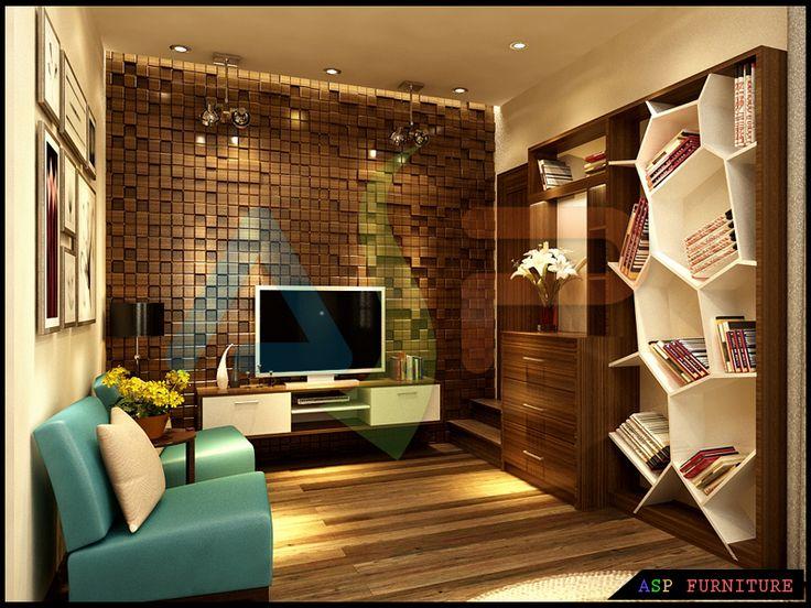 Thiết kế nội thất phòng khách nhà phố anh Bình