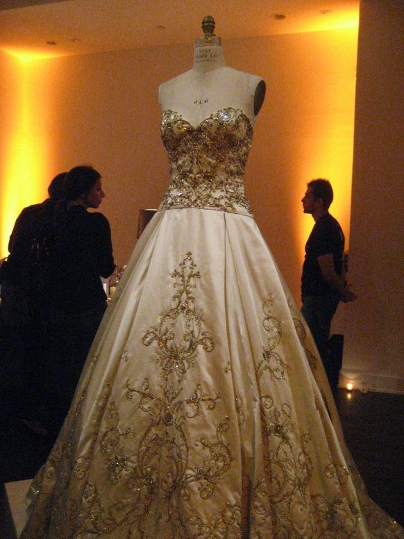 Larzaro Special Collection Wedding Dresses Spring 2012, strapless, beading, gold wedding dress