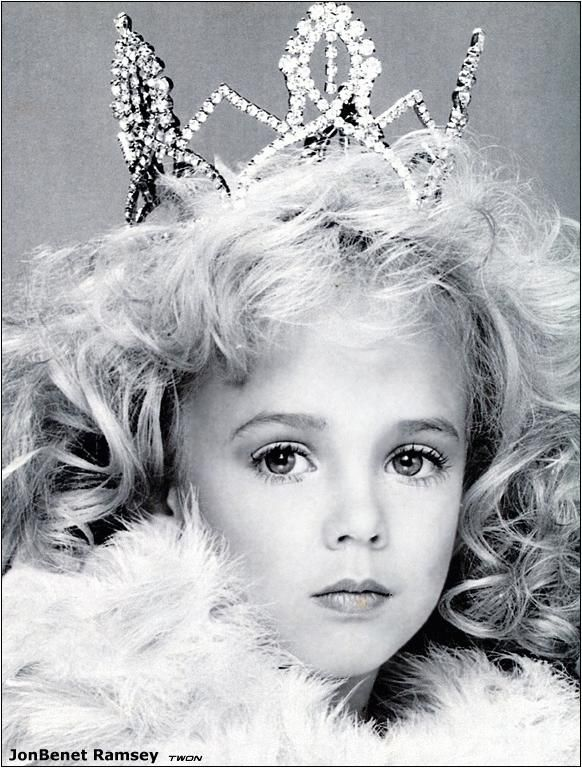 Jonbenet Ramsey was born August 6, 1990 and competed in many children's pageants.  Unfortunately, she is famous for her murder on December 25, 1996.