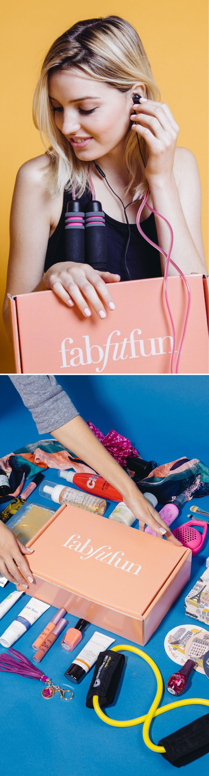 Be your best self in 2016 with FabFitFun. Each season we send out a box stuffed with premium, full-size beauty, fashion, and fitness products. It's like a big gift box delivered to your door. Try it out and get your first box for just $39.99 with code PINTEREST10