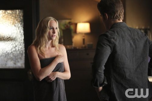 "The Vampire Diaries -- ""The World Has Turned and Left Me Here"" -- Image Number: VD605a_0213.jpg -- Pictured (L-R): Candice Accola as Caroline and Paul Wesley as Stefan -- Photo: Annette Brown/The CW -- © 2014 The CW Network, LLC. All rights reserved."