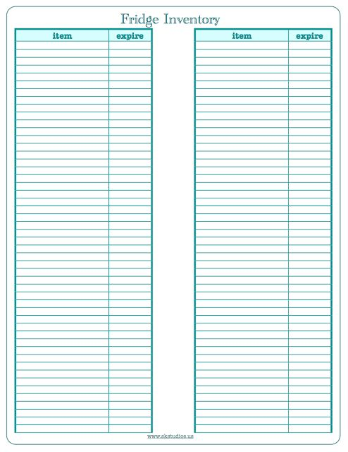 20 best Form inventory images on Pinterest Free printable - inventory sheets printable