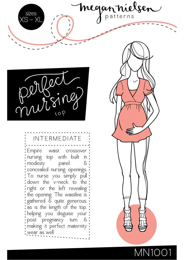 Megan Nielsen, Perfect Nursing & Maternity top sewing pattern // $18