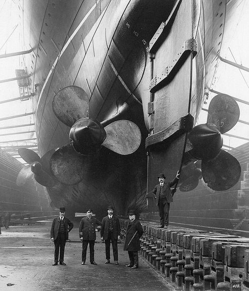 RMS Titanic around 1910-1912 it was not complete in this picture