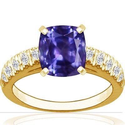 18K Yellow Gold Cushion Cut Purple Sapphire Ring With Sidestones GemsNY, http://www.amazon.com/dp/B009ISXOKI/ref=cm_sw_r_pi_dp_6a1Qqb1WCXH4Y