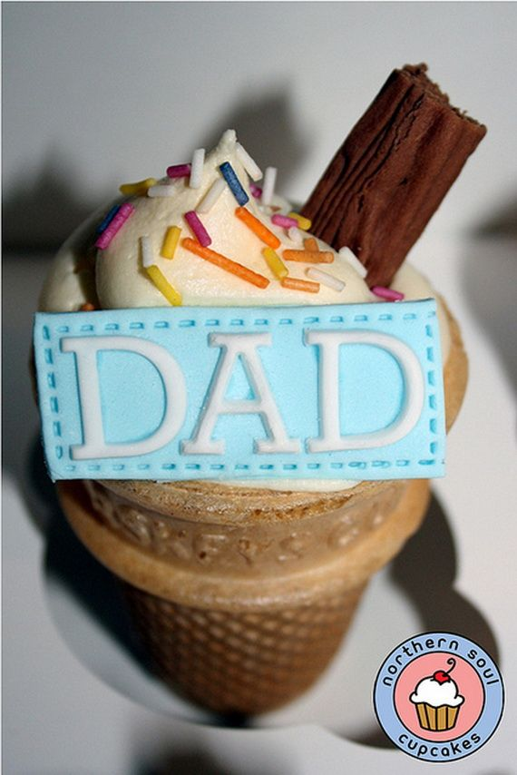 cool cupcake for dad for father 39 s day father 39 s day ideas. Black Bedroom Furniture Sets. Home Design Ideas