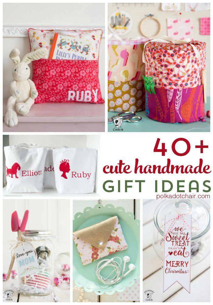 more than 40 simple handmade gift ideas