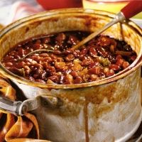 "This is my go to bean recipe for a good BBQ side. I use Sweet Baby Rays bbq sauce. I got nicknamed ""bean girl""  and i had to bring these beans to every event in the summer...but whatever. They are good beans!"