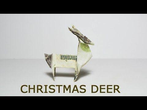 Christmas Money Deer Origami 1 Dollar Tutorial DIY…