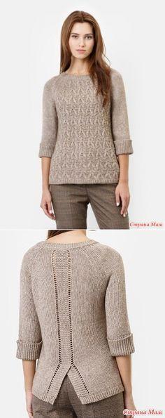 Интересный пуловер спицами. Схемы - Вязание спицами - Страна Мам