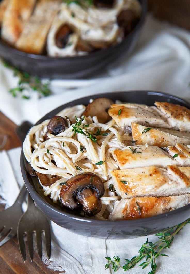 Engagement Pasta! Mushroom Chicken Pasta for Two