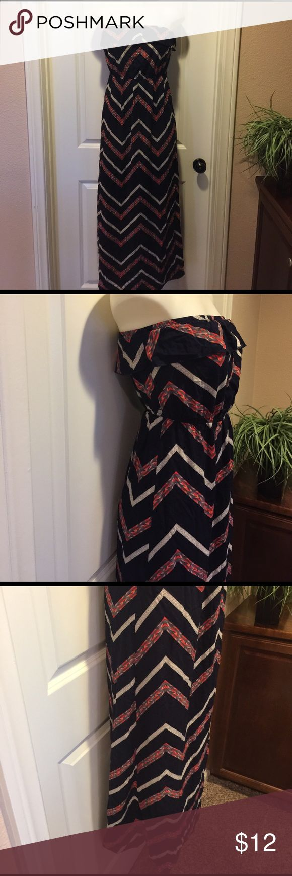 Cute Strapless Dress🌟 Cute Strapless dress in excellent condition, is elastic at waist, does not have belt, thanks for looking 😊 Dresses Strapless