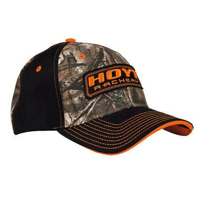Hoyt-Archery-Hat-Cap-Bright-Orange-and-Camo-New-with-tags