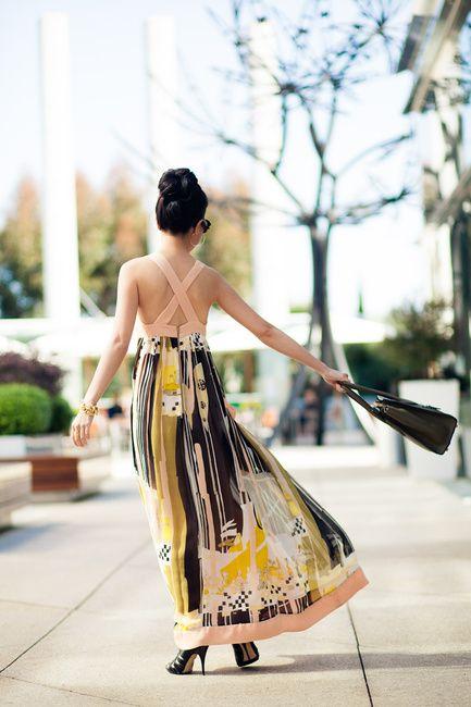 Spring Peach :: Printed dress