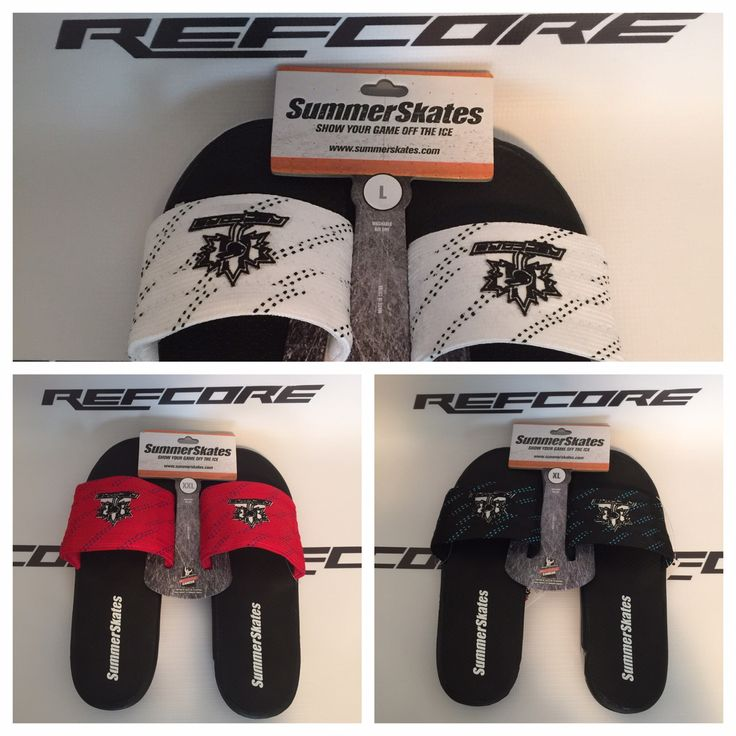 REFcore™ SummerSkates hockey sandals.  A great addition to your referee bag. Great for kicking around in, in between games/periods.  The most comfortable sandal you'll ever own.  Referee apparel, referee footwear #referee #hockey #apparel #footwear #summerskates #hockeysandal #refereesandals #refcore #refereeapparel #hockeyapparel #hockeysandals