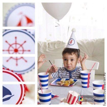 """Набор """"Морячок"""" - тёмно-синий,морская тема,день рождения,растяжка,морская тематика"""