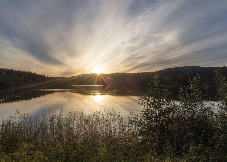 Solnedgång över Dalarna