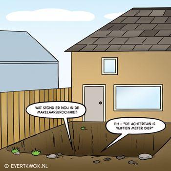 501 Tuin - Evert Kwok Cartoons - droge humor, woordgrappen & bananen