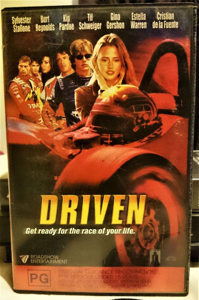 DRIVEN - SYLVESTER STALLONE - KIP PARDUE - ESTELLA WARREN - VHS A RARE FIND