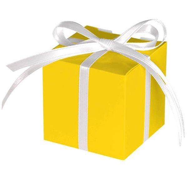 Check Out Treat Boxes Yellow