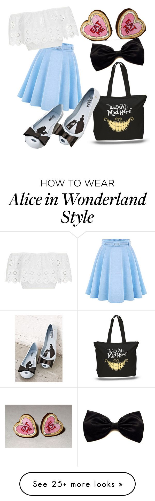 """Modern Alice (Alice in Wonderland)"" by haileydasilva on Polyvore featuring WithChic, Melissa, Miguelina and modern"
